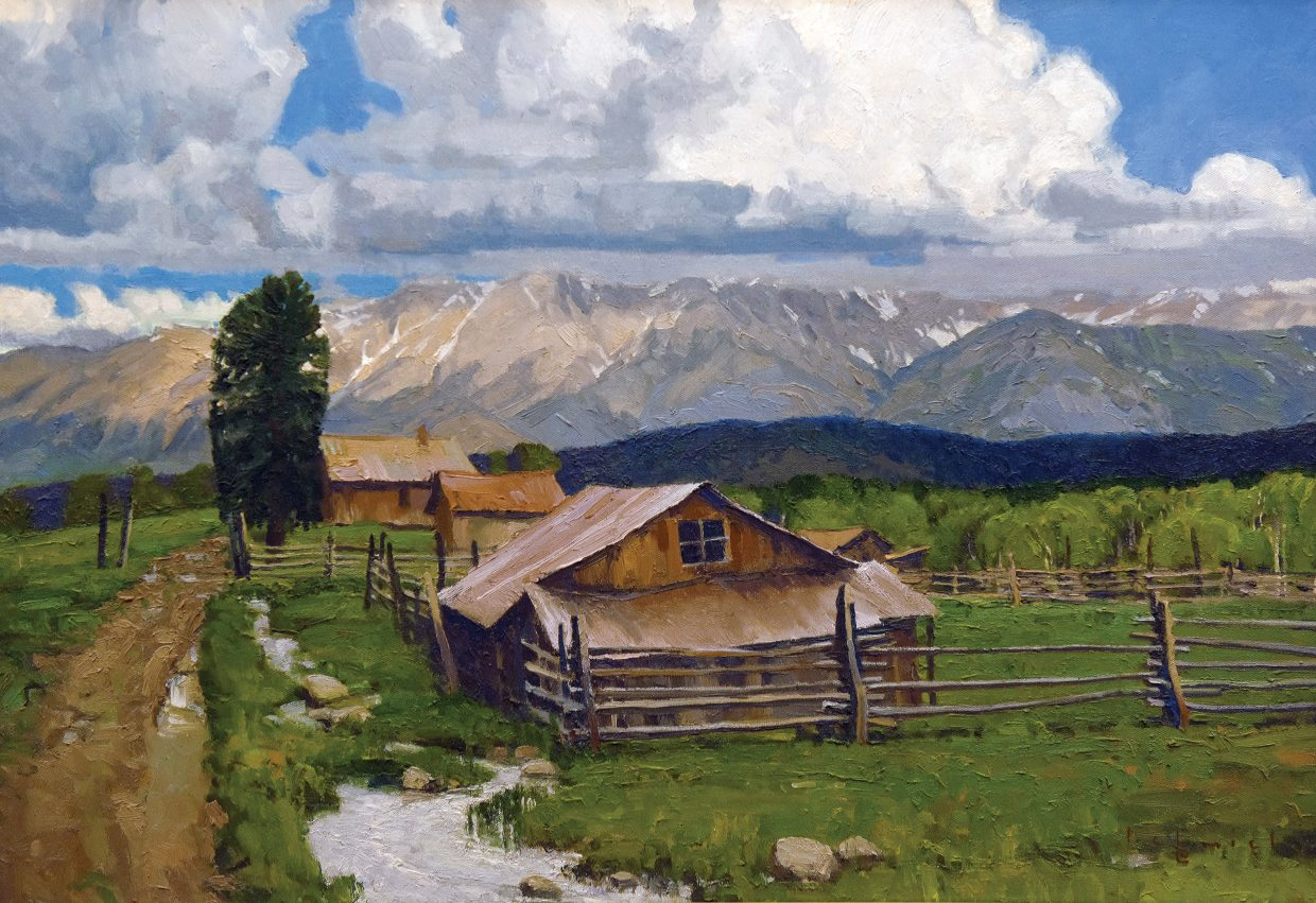 This piece by painter Len Chmiel is part of a retrospective at the Steamboat Art Museum that will run through April 9, 2016.