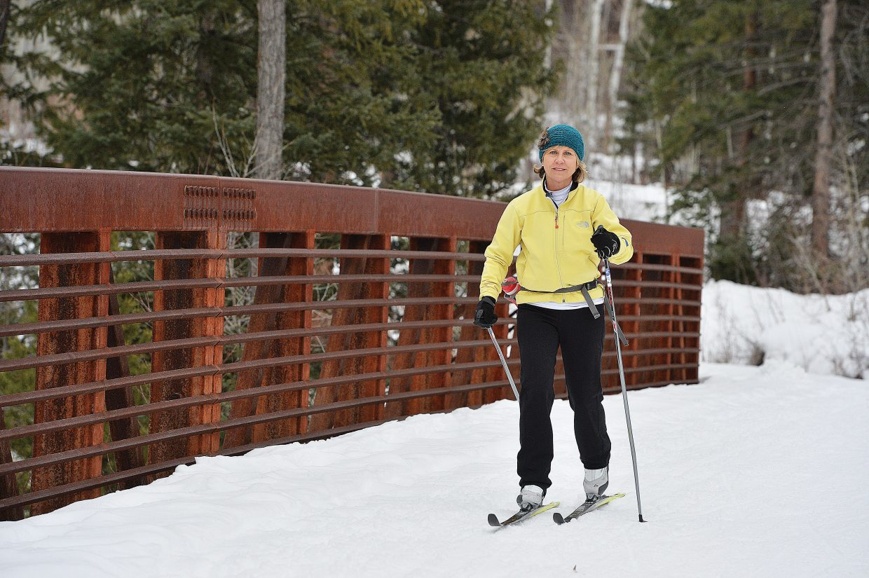 Gail Smith makes her way along the trails at the Steamboat Ski Touring Center earlier this week. The center at the Rollingstone Ranch & Club opened in mid-November. The operators of the course said the Haymaker touring center will open Dec. 12.