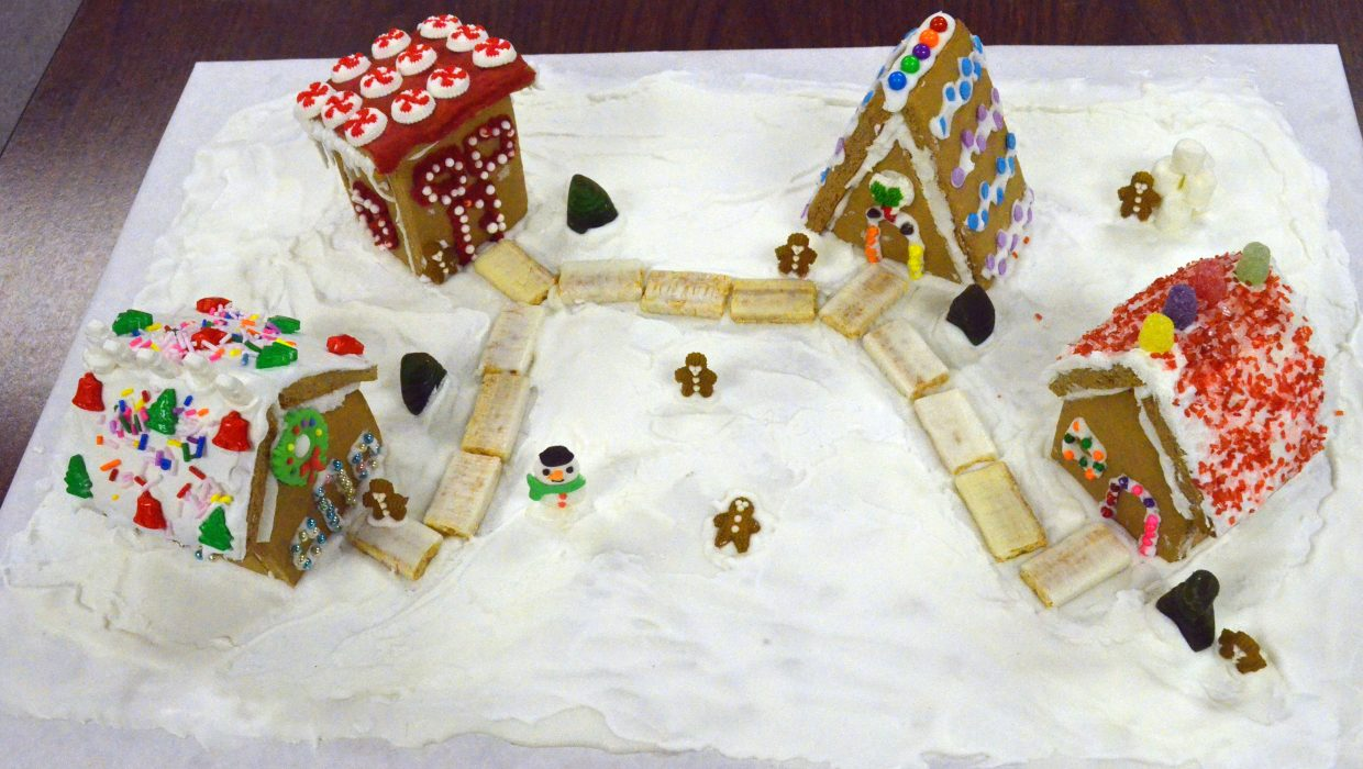 A village made of gingerbread, candy and frosting made by James Nottingham was the winner of the kids/family first place prize for the gingerbread house contest hosted by Museum of Northwest Colorado and Downtown Business Association. The edible entries are currently on display at the museum. Other winners included Diane Calim in the adult category and Jasmin Hershiser as second in the the kids/family lineup. View all the entries at Facebook.com/CraigDailyPressnewspaper/.