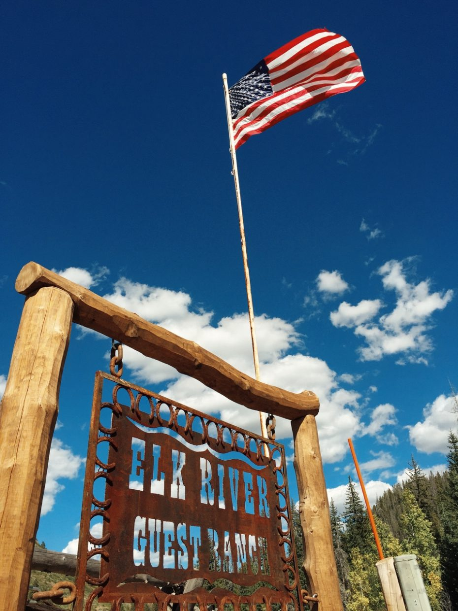 New owners Bex and Scott Damman have installed a new sign for the Elk River Guest Ranch in North Routt.