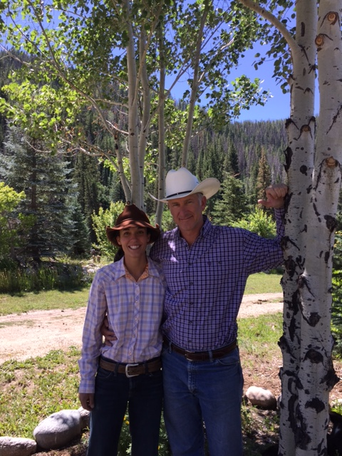 New owners of the Elk River Guest Ranch, Bex and Scott Damman.
