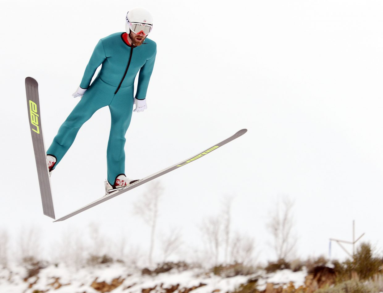 Bryan Fletcher flies from the ski jump in Park City, Utah, last month while preparing for World Cup competitions. Fletcher and his younger brother, Taylor, both said individual moments stood out for them on their quest to be Olympians. For Bryan, it was getting into a school in Park City that made it seem real. Taylor, meanwhile, said giving up high school soccer after his sophomore year was the decisive decision.
