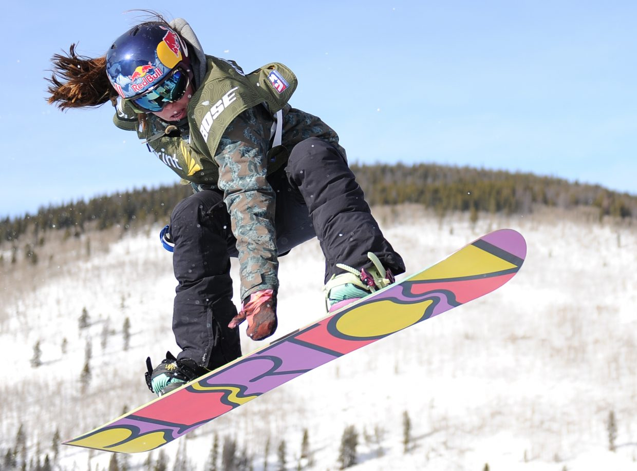 Arielle Gold flies through the air last month during an event at Copper Mountain. Gold will be one of a handful of athletes competing this week at the X Games in Aspen.