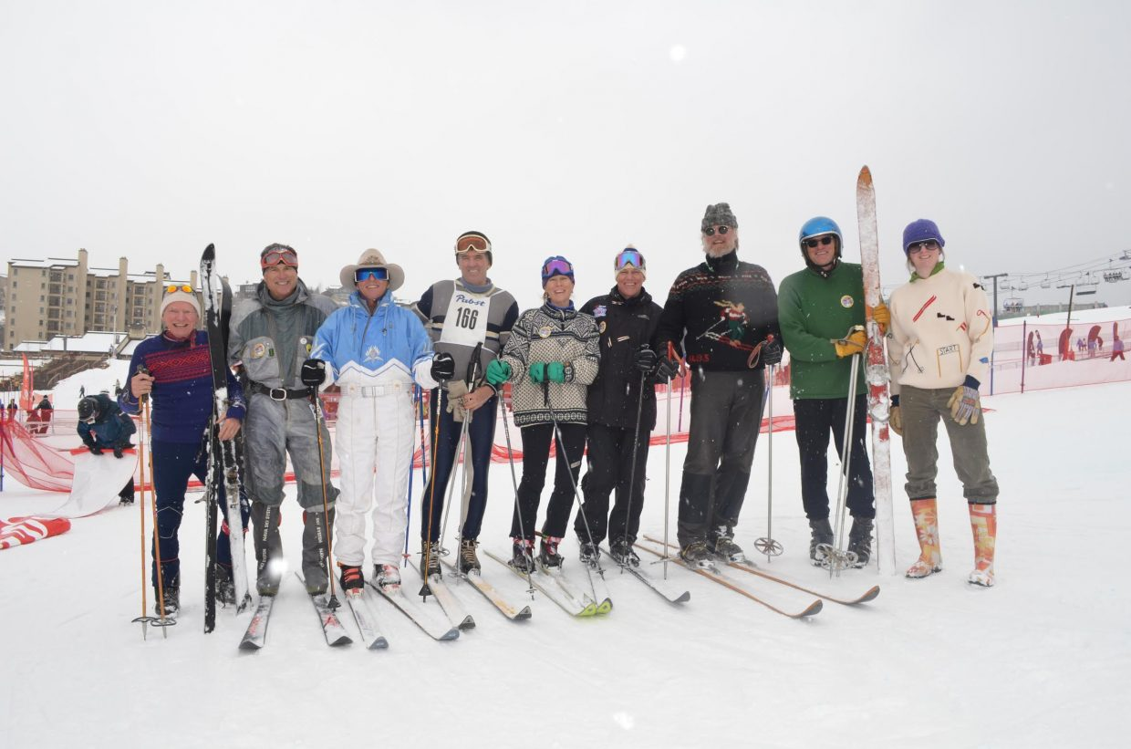 Billy Kidd, third from left, and some of his pals in this lineup of vintage ski racers are pushing 70 at the same time the millennial generation is settling into its 30s and the early child-rearing years. That demographic coincidence poses challenges for destination ski areas.