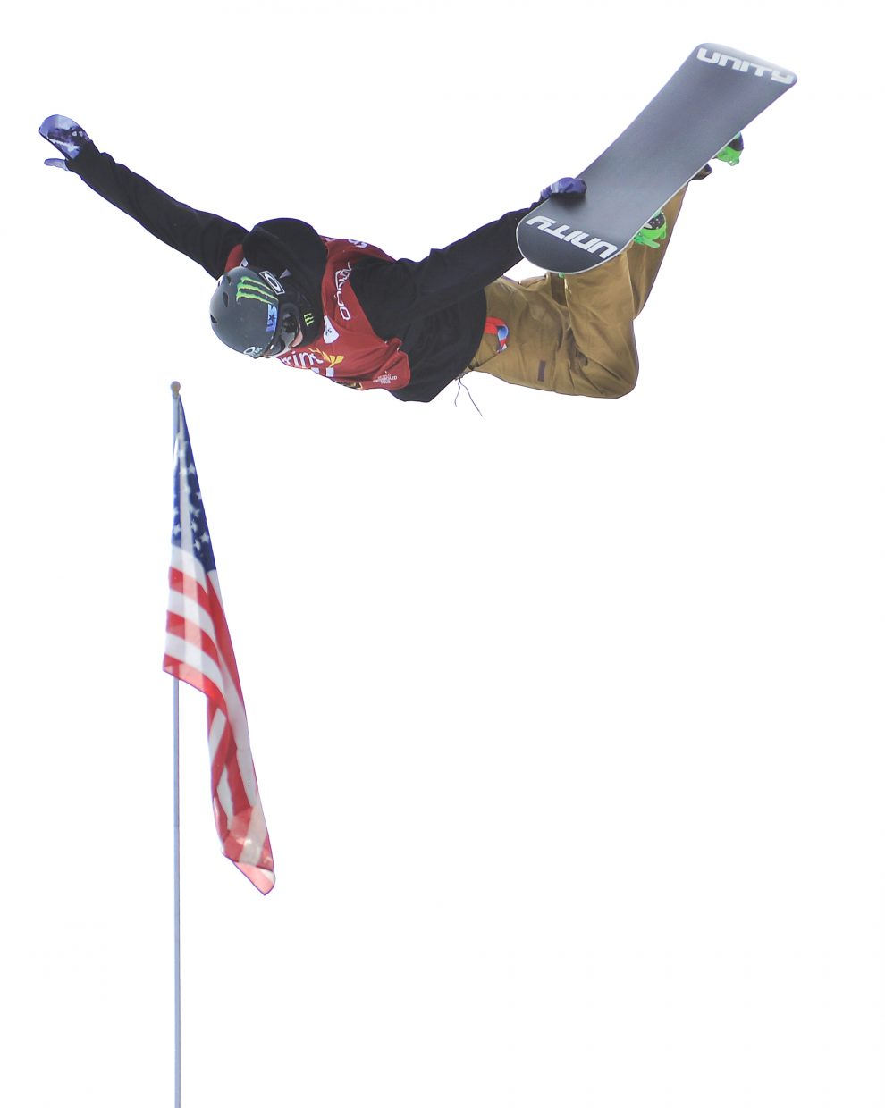 Taylor Gold flies high Saturday at the US Grand Prix World Cup snowboard event at Copper Mountain. He won the event.
