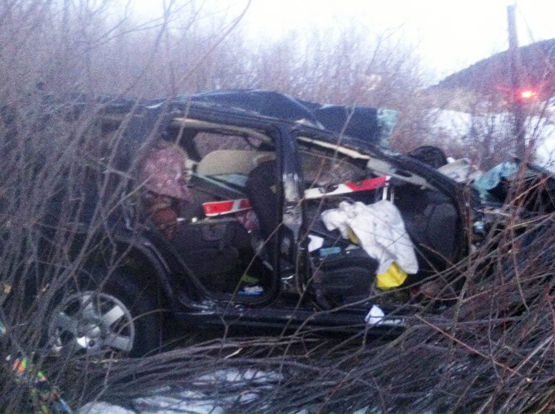 A woman was killed Sunday in a crash on U.S. Highway 40 about two miles east of Milner.
