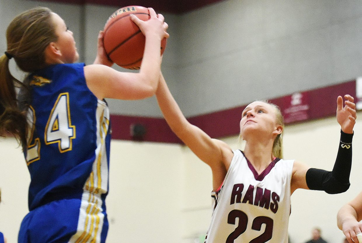 Soroco's Morgan George reaches out for the ball Tuesday against North Park.
