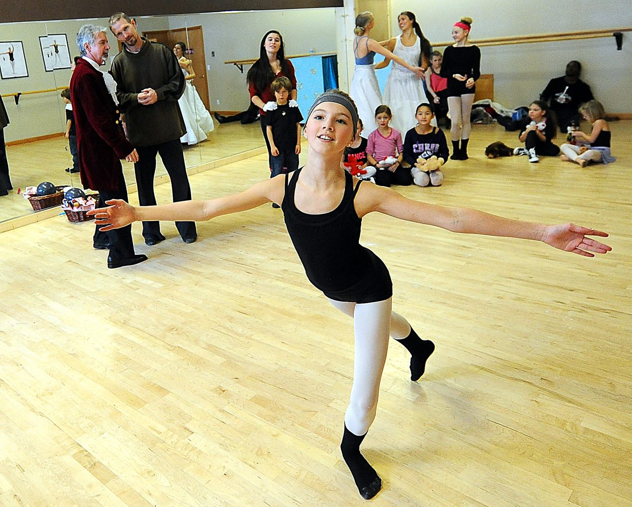 """Olivia Satkwicz dances Sunday at Elevation Dance Studio in Steamboat SPrings during a rehearsal for """"The Nutcracker."""""""