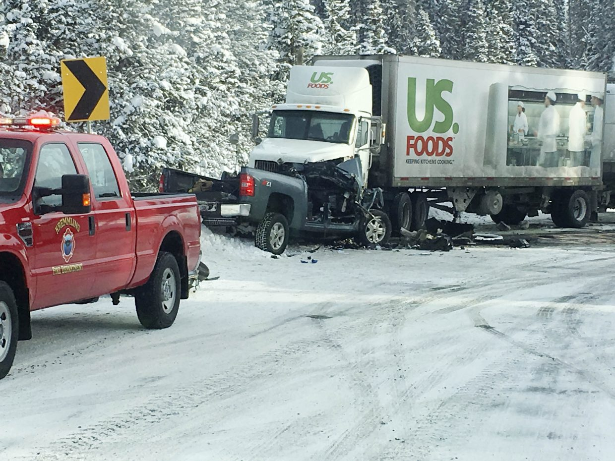 A head-on crash closed U.S. Highway 40 over Rabbit Ears Pass on Thursday morning.
