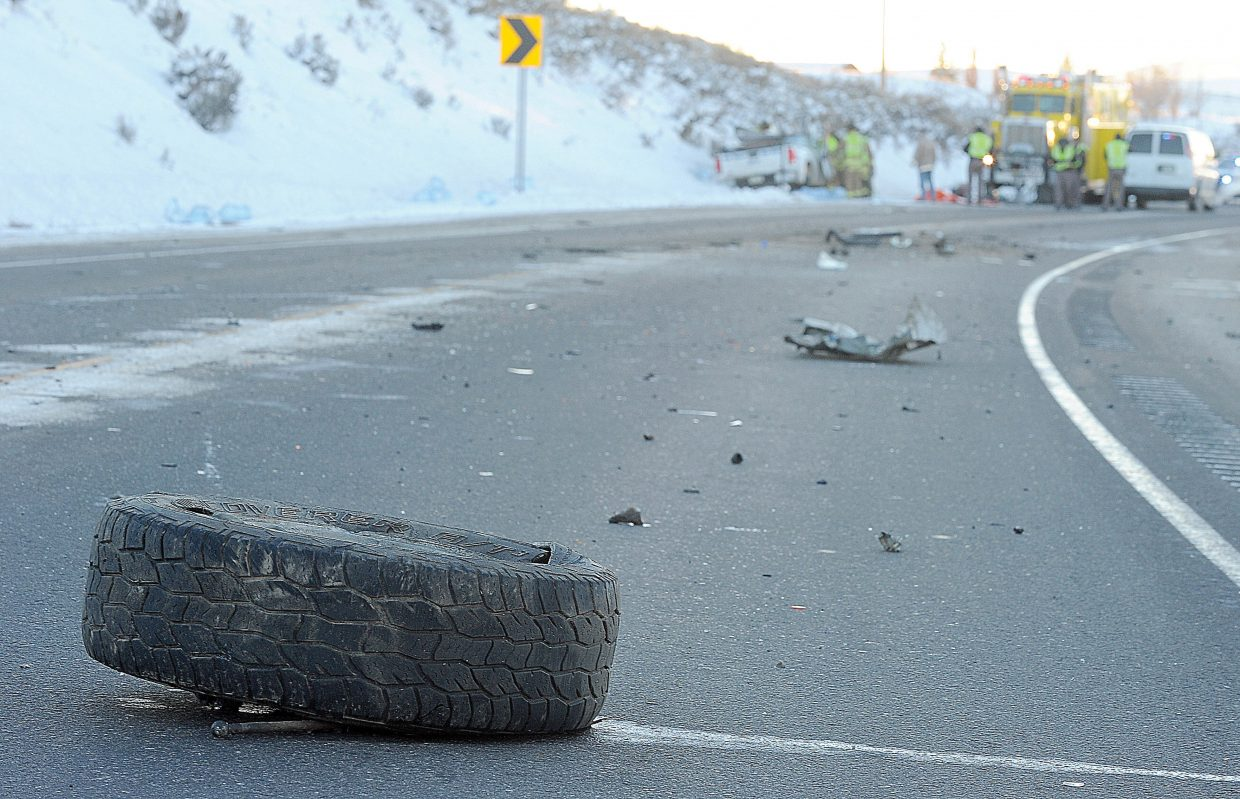 A driver of a pickup was killed Wednesday afternoon in a motor vehicle crash on U.S. Highway 40 just east of Hayden. The crash occurred shortly before 3 p.m. when the westbound pickup and a semi-tractor trailer, which was headed east near mile marker 113, collided. The driver of the semi was transported to Yampa Valley Medical Center, and the pickup driver was pronounced dead at the scene. The highway was shut down in both directions for hours, and traffic was rerouted onto Routt County Road 80 and C.R. 70.