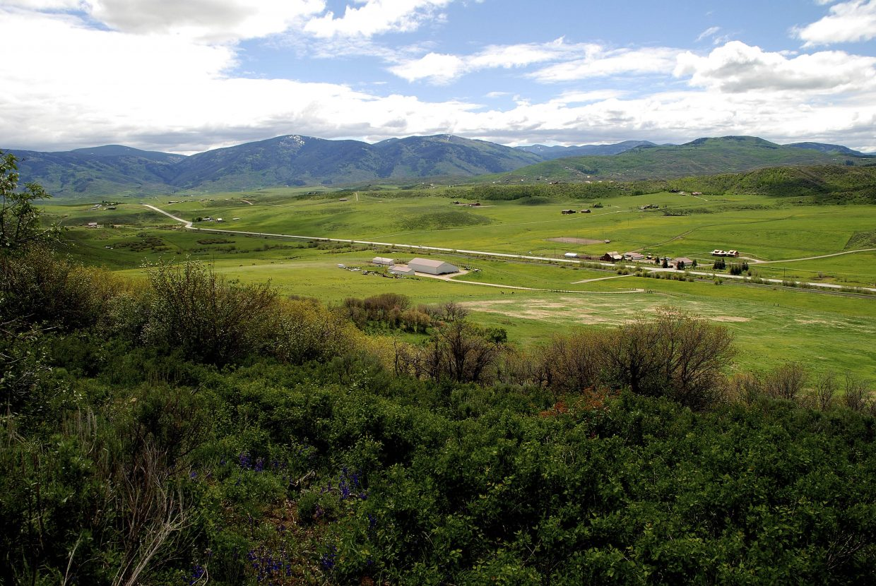 Flying Diamond Ranch is seen from the north side of Colorado Highway 131. More than $600,000 in Colorado Lottery proceeds have been awarded to protect 293 acres of the ranch from ever being developed.
