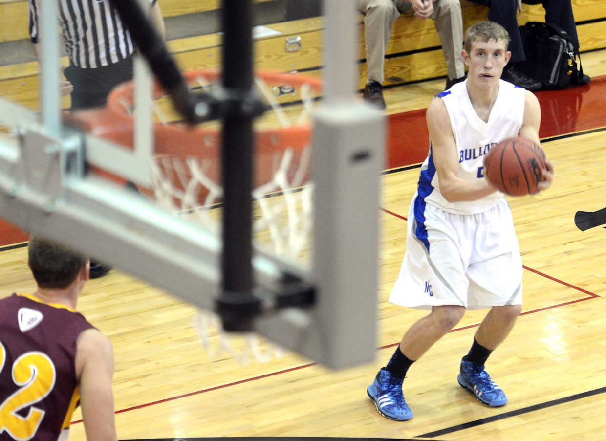 Matthew Hamilton looks for a shot from 3-point range Thursday in the opening round of the Steamboat Springs Shoot-Out.