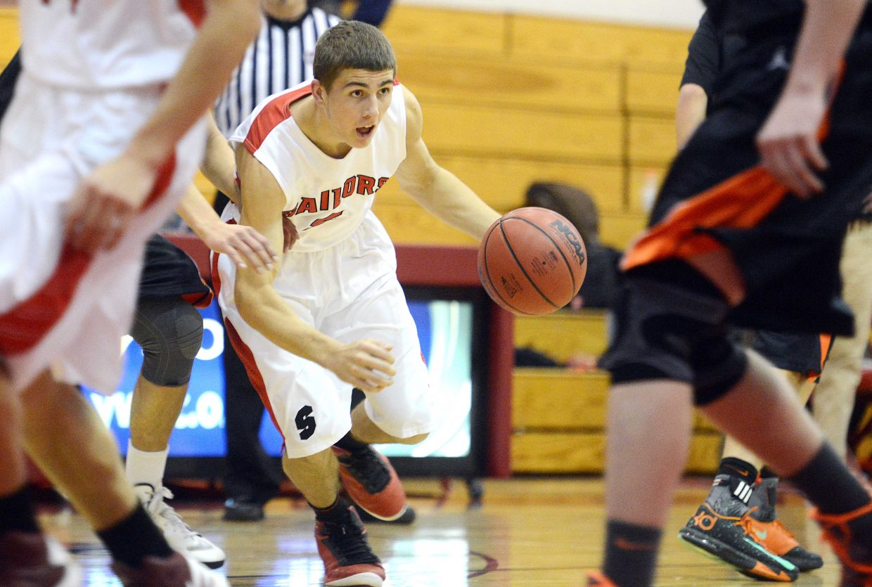 Steamboat's Robi Powers looks for a lane to the basket Thursday in Steamboat Springs.