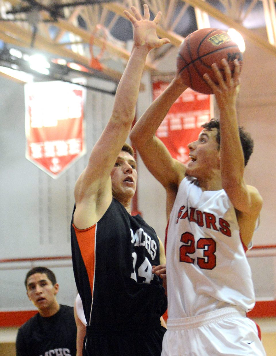 Zach Dunklin puts up a shot Thursday at the Steamboat Springs Shoot-Out.