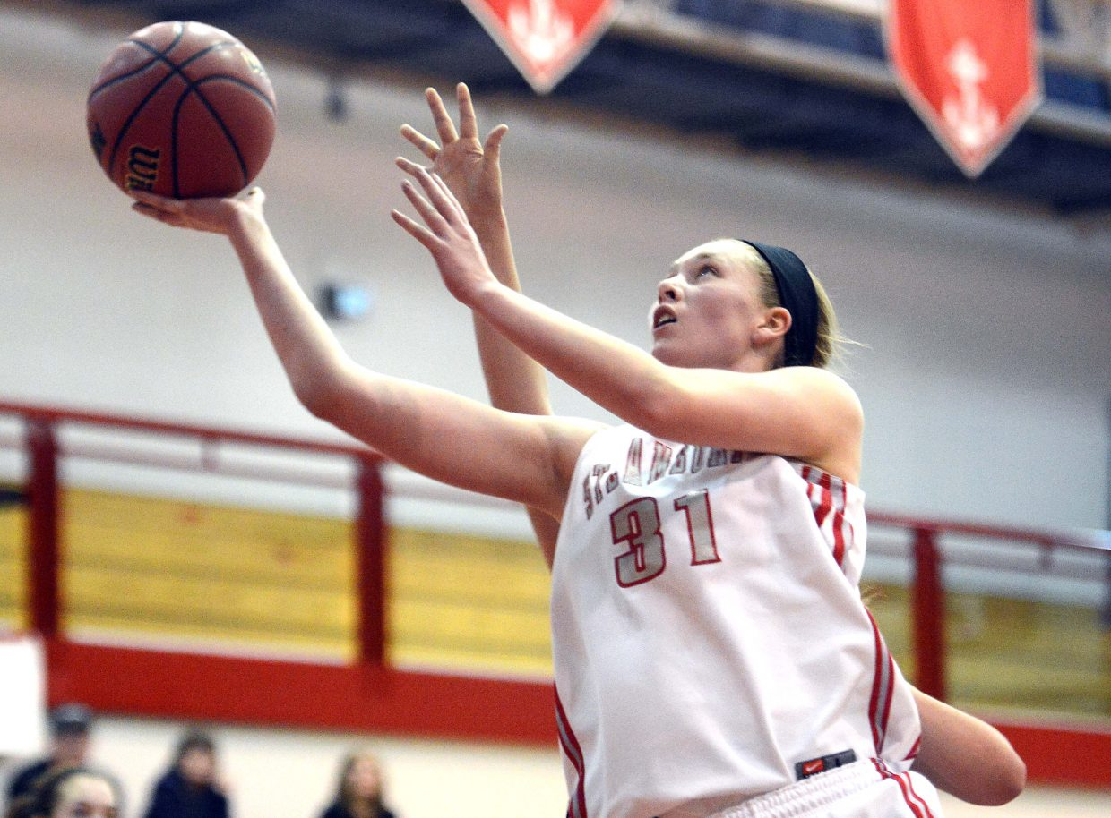Steamboat's Maggie Crouch puts up a shot Thursday during the Steamboat Springs Shoot-Out.