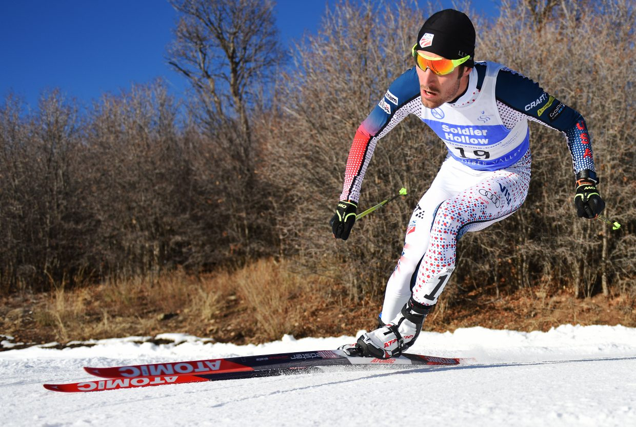 Taylor Fletcher's blood carries oxygen more efficiently than most and his muscles are slower than most to hurt, giving him an advantage in the cross-country ski racing element of Nordic combined.