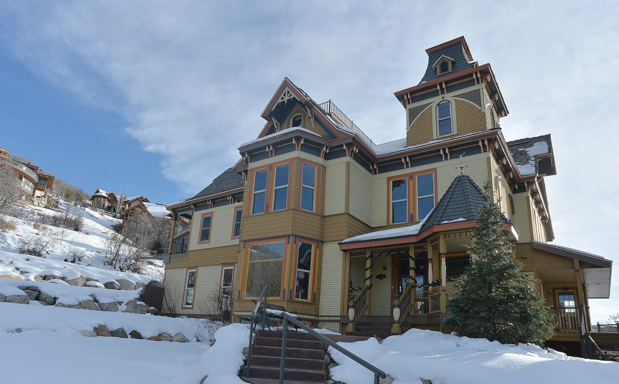 The Victorian bed and breakfast is a source of conversation as skiers make their way up the mountain on the gondola at Steamboat Ski Area. The house, which was brought to Steamboat Springs from Kansas in five pieces, got a lot of attention when it arrived a few years ago. Last week, the owners opened their doors to the community to see what's inside.