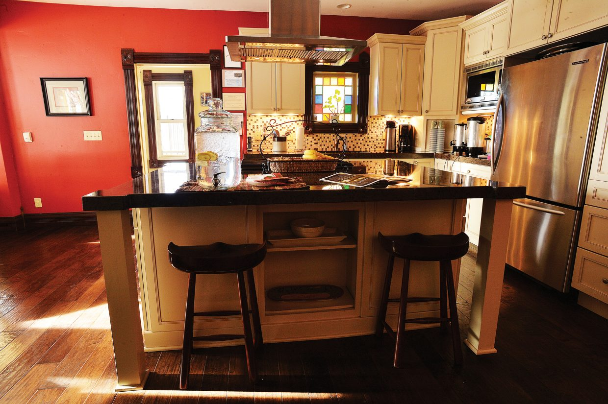 The big island anchors the kitchen inside the Victorian, which is located on the mountain under the gondola. The house, which was brought to Steamboat Springs from Kansas in five pieces, got a lot of attention when it was relocated. Last week, the owners opened their doors to the community to see what's inside.