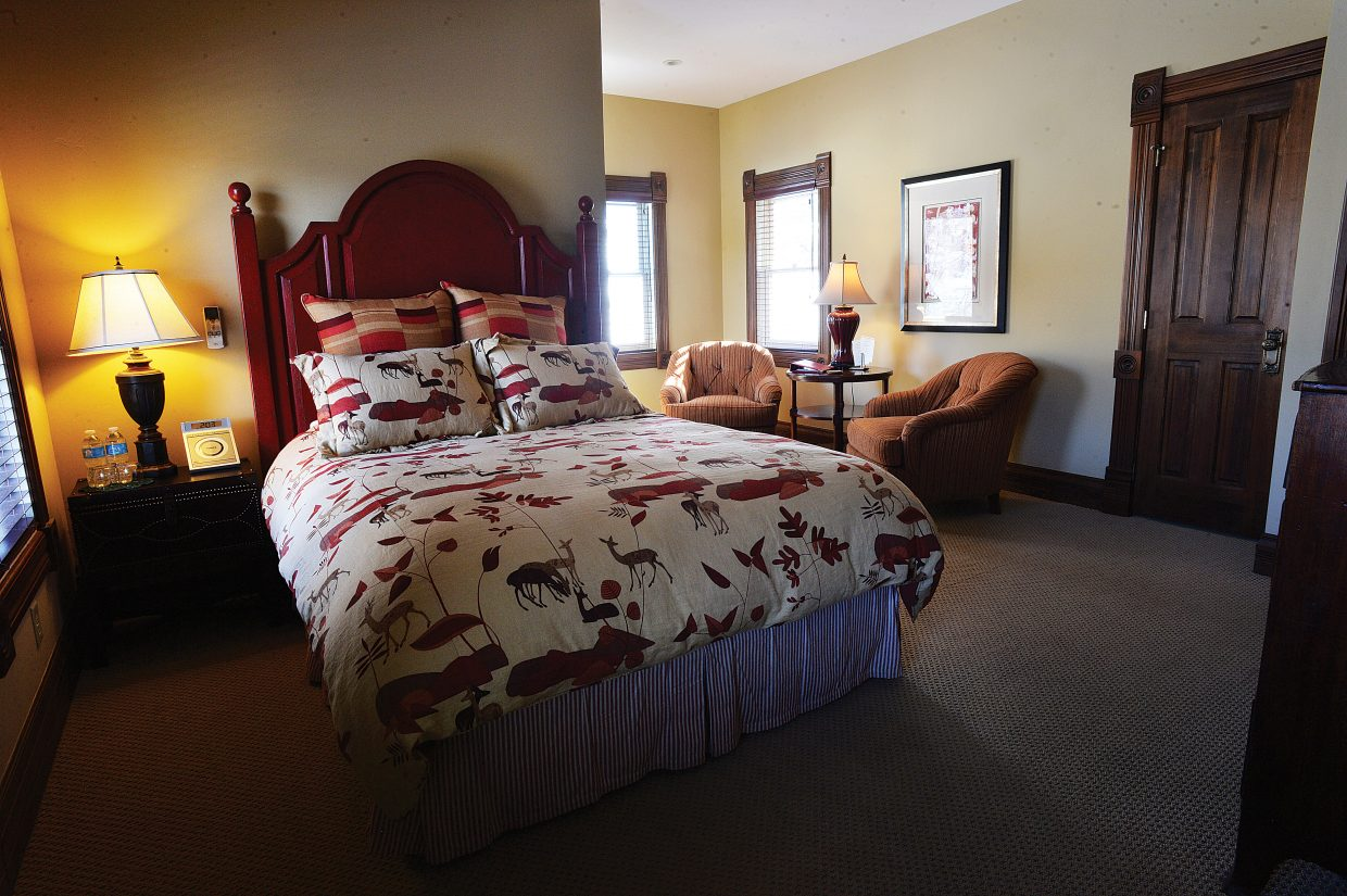 There is plenty of room to rest, relax and enjoy the views inside the Victorian, located at the base of Steamboat Ski Area.