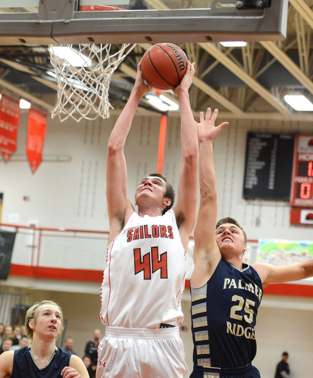Garrett Bye goes up for a dunk Saturday. Unfortunately for Bye, it was waved off as a foul was called before the shot.