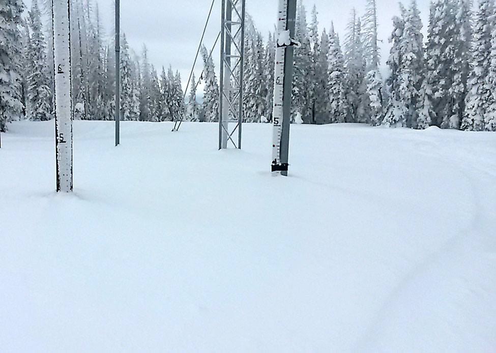 The snow depth at the Tower measuring site on Buffalo Pass north of Steamboat Springs grew from 20 inches Dec. 6 to between 46 and 48 inches Dec. 13.