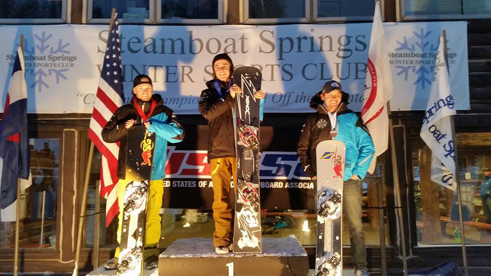 Steamboat snowboarder Billy Winters won the men's open slalom race at Saturday's USASA event at Howelsen Hill, ahead of Mike Trapp in second and Steve MacCutcheon in third. Trapp won the GS race while Winters was ninth.