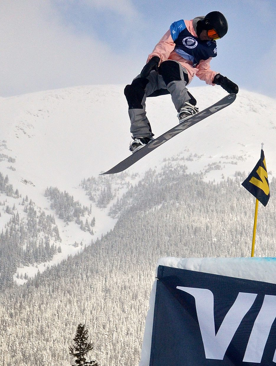 Steamboat Springs rider Nik Baden spins through a trick at Copper Mountain. Baden recently participated in the Mountain Dew Tour at Breckenridge on team Capita. (Photo by: Joel Reichenberger)