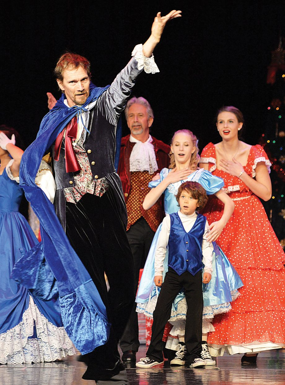 "Dancer Don Miles plays the part of Uncle Drosselmeyer in Elevation Dance Studio's production of ""The Nutcracker."""