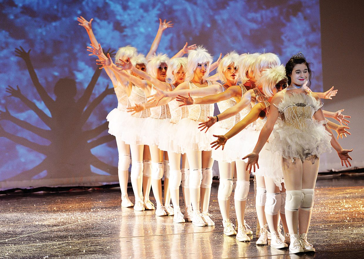 "Markella Kyprios and company perform during a rehearsal for Elevation Dance Studio's production of ""The Nutcracker."""