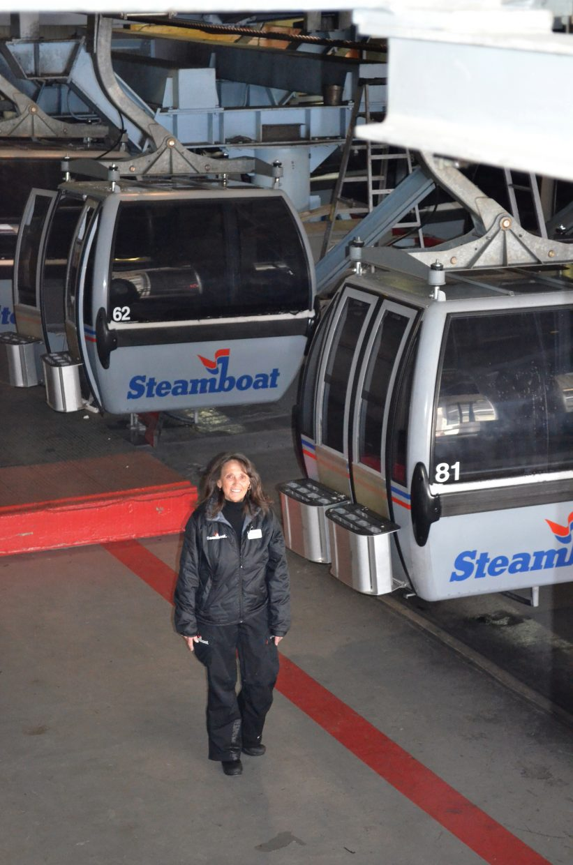 Steamboat Ski & Resort Corp. Director of Lift Operations is in the midst of her 45th year working for the ski area. She began in the ticket office and supervises 175 employees in ski season.