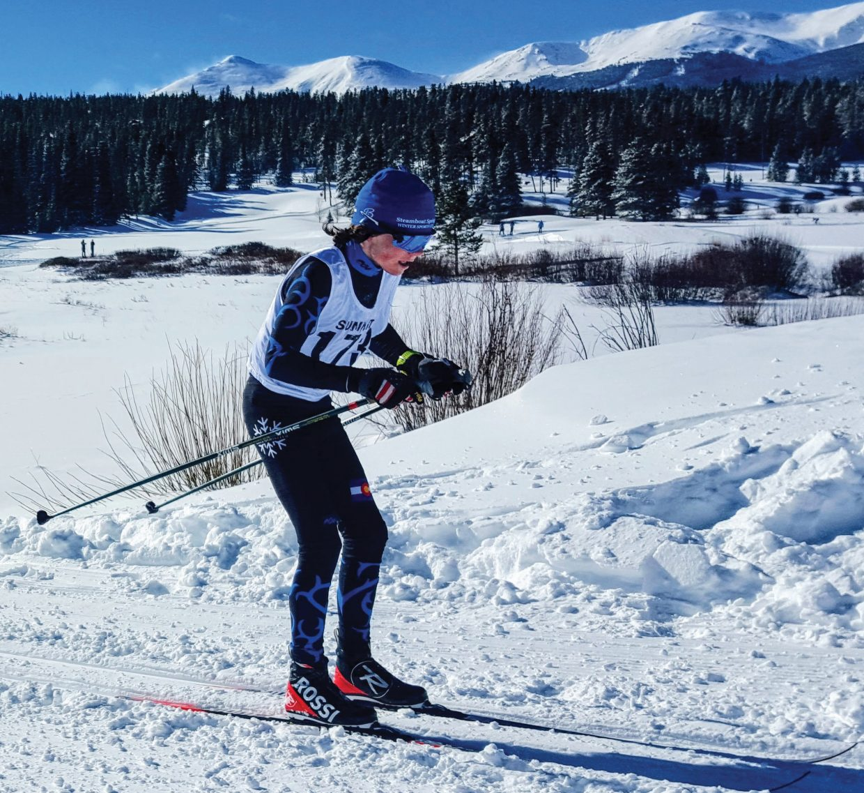 Chase High raced at Gold Run in Breckenridge last weekend.