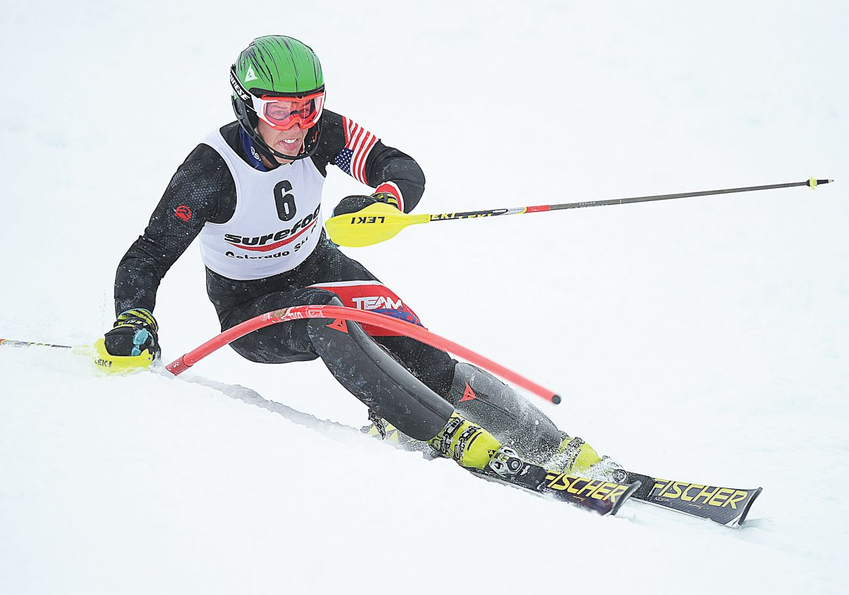 Hig Roberts, who grew up skiing on the slopes of Howelsen Hill as a member of the Steamboat Springs Winter Sports Club, raced to second place in Monday's men's slalom race on the final day of the Holiday Classic in Steamboat Springs. The event was won by Seppi Stiegler. Roberts, who now skis with Team America based out of Vail, won Sunday's race.
