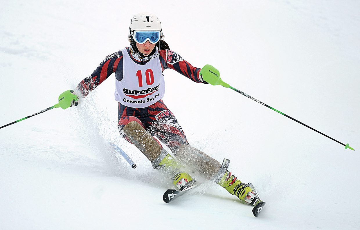 University of Denver skier Mateja Robnik topped the women's slalom field Monday in the final event of this year's Holiday Classic held in Steamboat Springs.