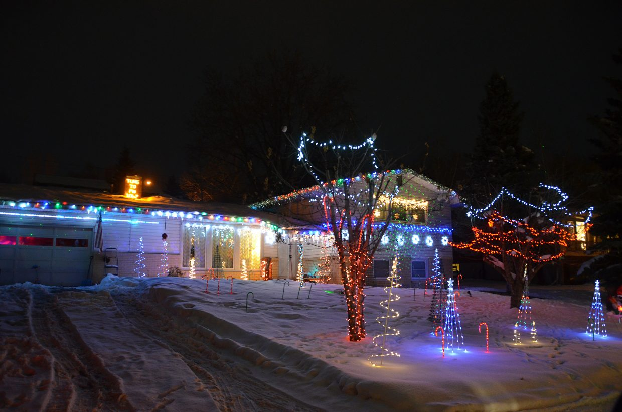 The house at 1028 Breeze St. was one of 11 homes that participated in the 2015 Holiday Tour of Lights.