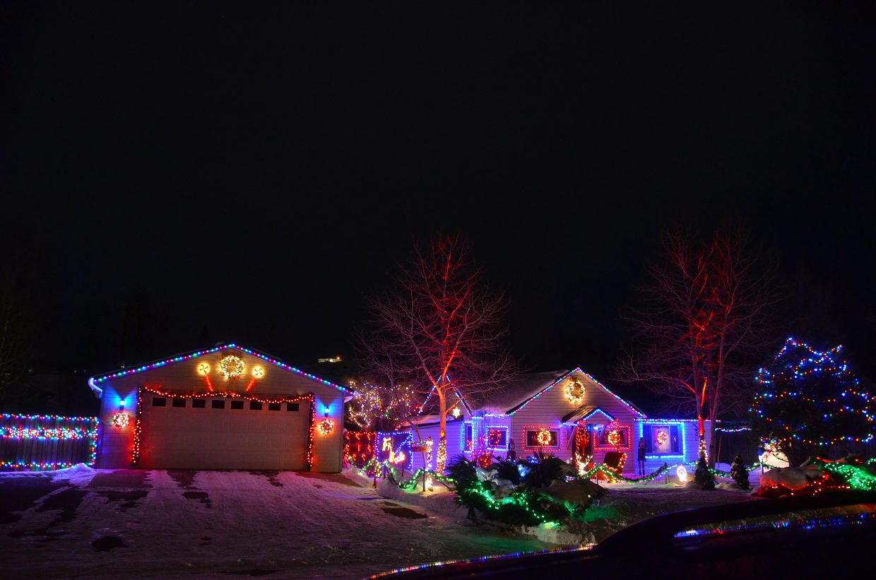 Third place in the 2015 Holiday Tour of Lights went to the Cassidy residence at 885 Rose St.