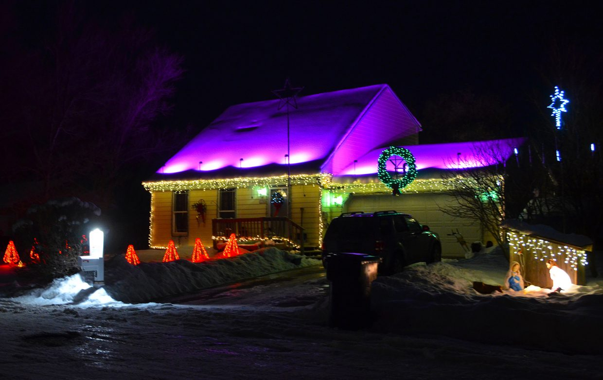 The Meek residence, located at 738 Exmoor Rd., won second place in the 2015 Holiday Tour of Lights.