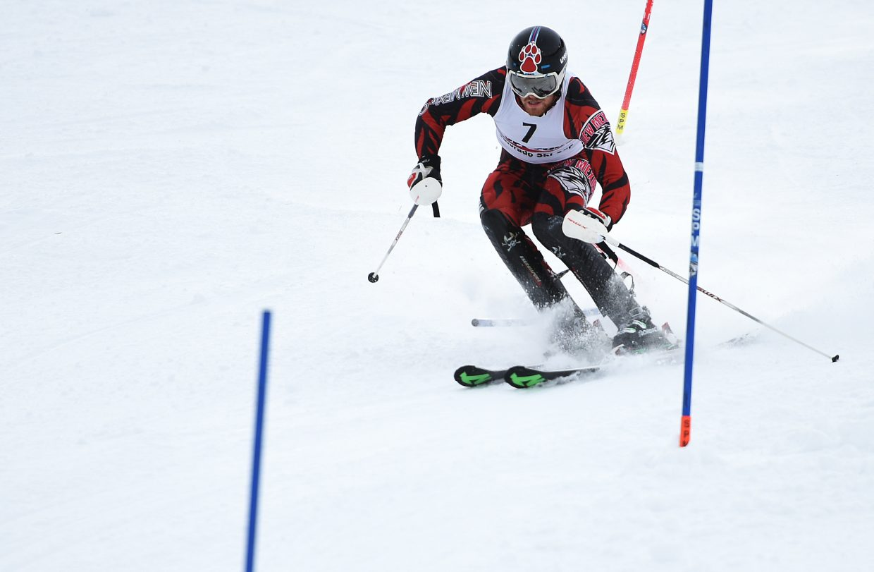 Vegard Busengdal won both Tuesday night's slalom and Wednesday's race, standing alone as the overall men's champion for the two-event Murphy Roberts Holiday Classic.