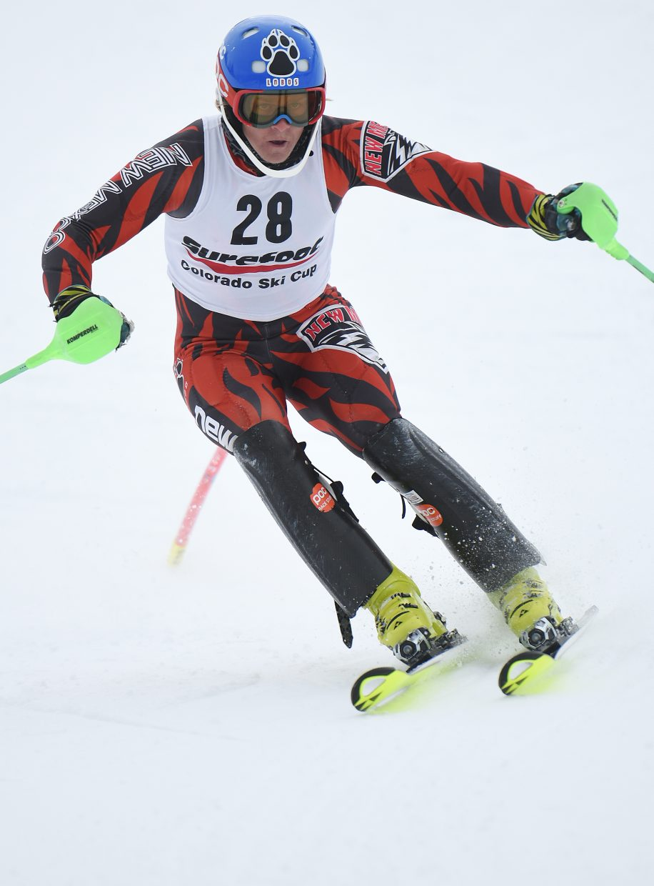 University of New Mexico skier Nick Veth rounds the gates at Howelsen Hill on Wednesday.