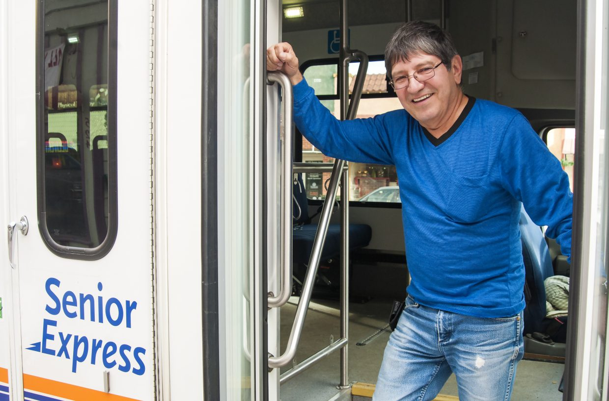 """Clem Mascarenas is known among Craig's seniors for his cheerful temperament and helpful nature as he gets them where they need to go on the """"Senior Express."""""""