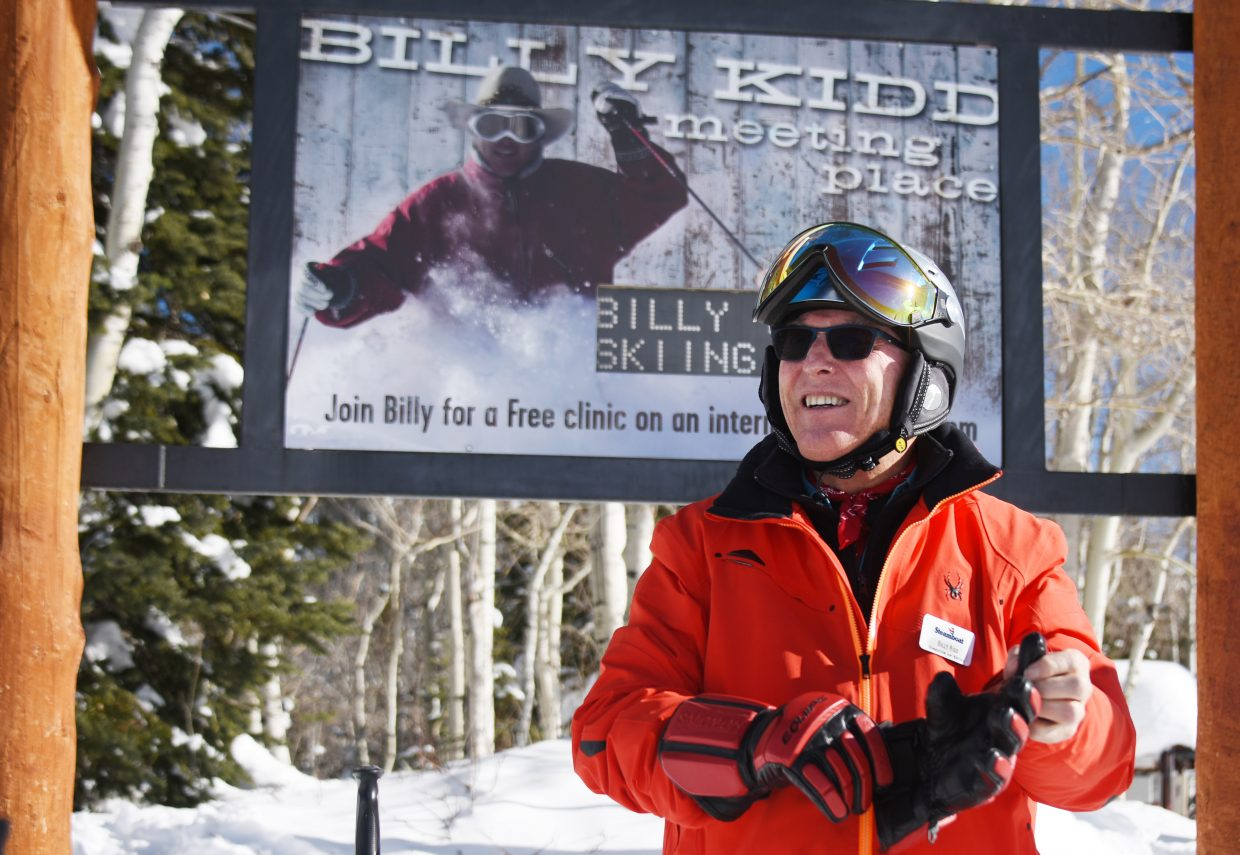 Director of Skiing Billy Kidd has been leading a daily 1 p.m. clinic from the top of the gondola in Steamboat Springs for 46 years. He doesn't plan on stopping any time soon.