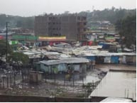 An intense rainstorm flooded the town of Narok last year during Christmas, leaving the town market underwater.
