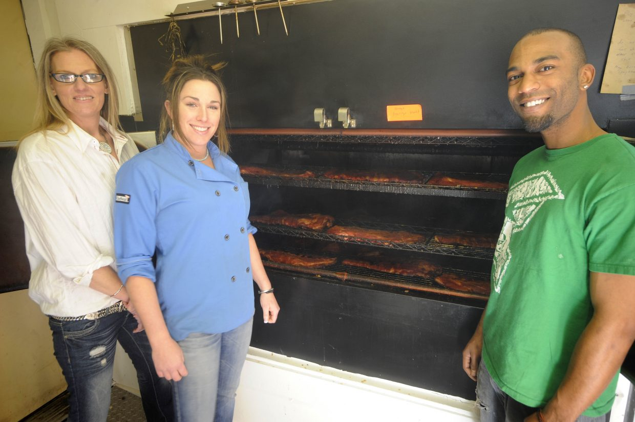 Tyler Antwine was recruited from Osawatomie, Kan., to be the head pit master at We B Smokin' BBQ, which opened Dec. 16 in Hayden.
