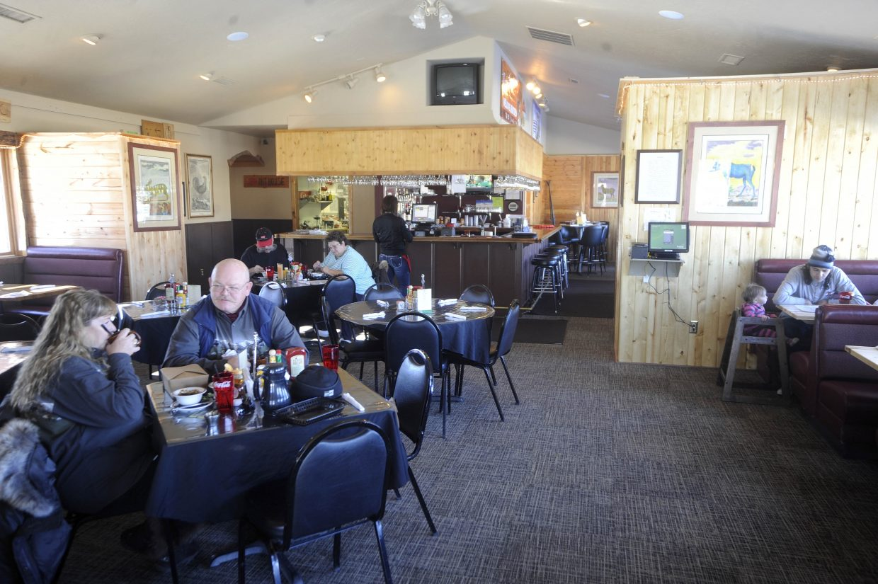 People eat lunch Friday at the new We B Smokin' BBQ restaurant in Hayden.