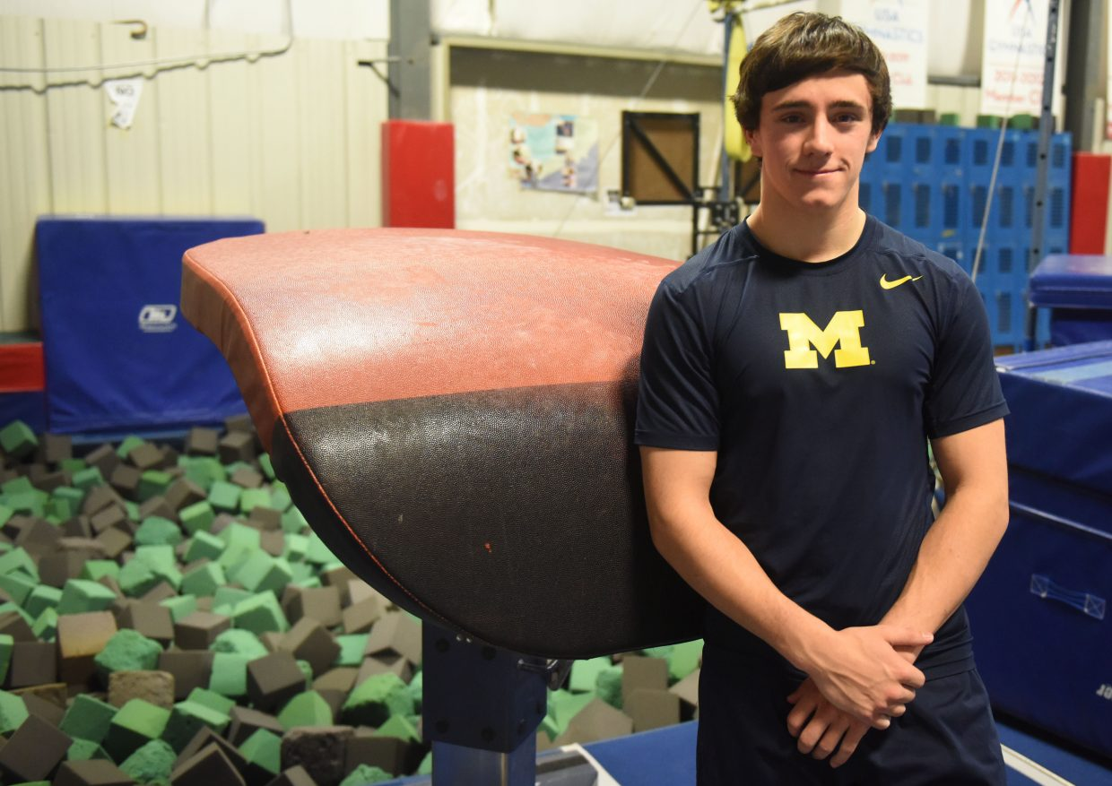 After competing at nationals a year ago, Cole Gibbs wondered if he'd ever compete in gymnastics again. He tried out for the University of Michigan squad and, surprising even himself, made the cut.