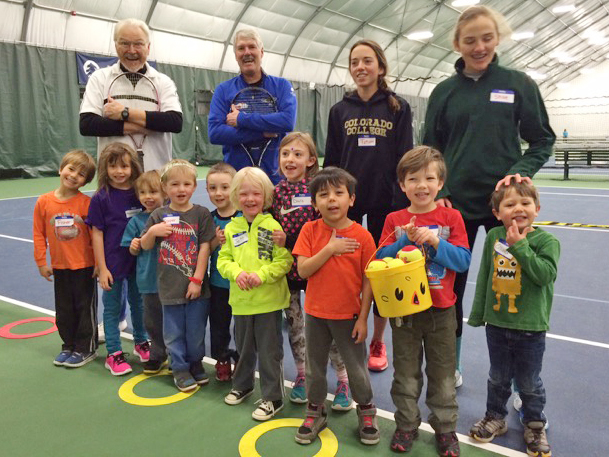 This week, the Tennis Center at Steamboat Springs hosted a free holiday tennis camp for beginner youths. The camp, put on by the Steamboat Tennis Association, had 34 children attend Monday's camp and 45 on Tuesday. Advanced Steamboat tennis players volunteer to help coach the kids.