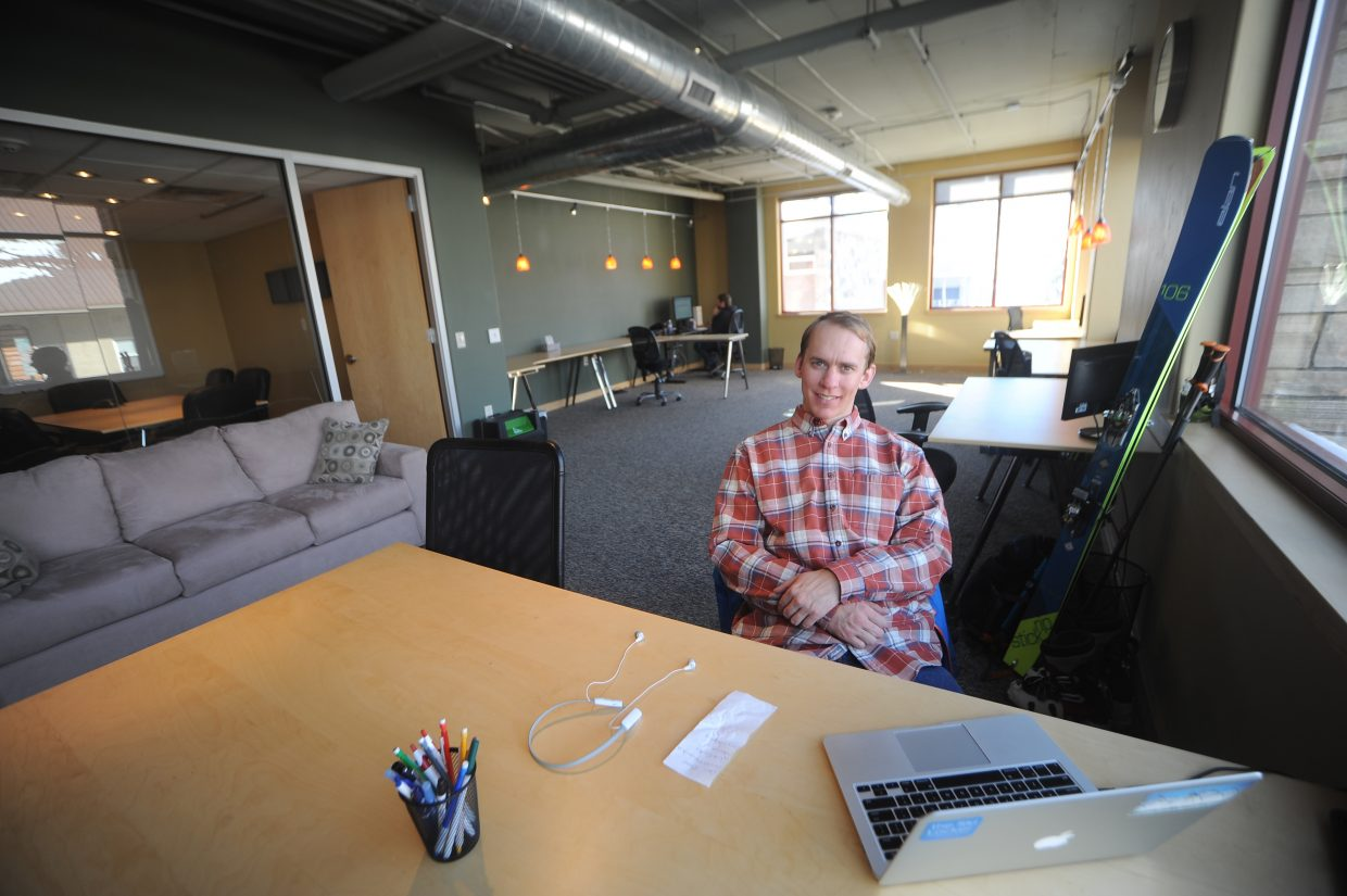 Blogger Barclay Idsal, who serves the managing editor for Unofficialnetworks.com, started the local Ski Locker coworking space in Steamboat Springs. He was inspired to bring the unique office space to Steamboat after enjoying working at the flagship Ski Locker location in Chamonix, France.