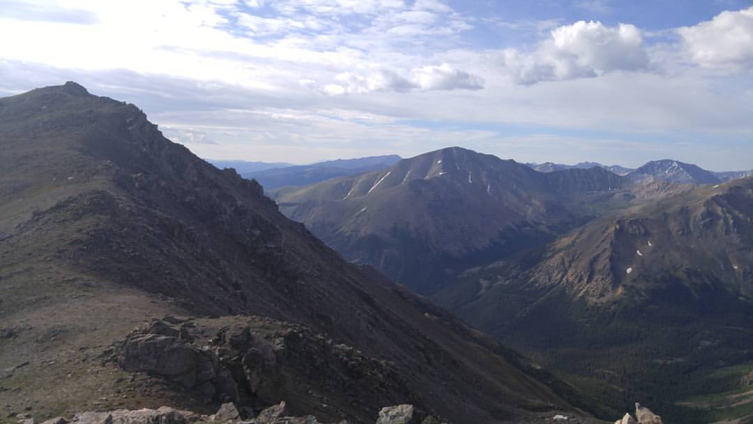 Views from the summit of Mount Massive, the second highest peak in Colorado at 14,428 feet.