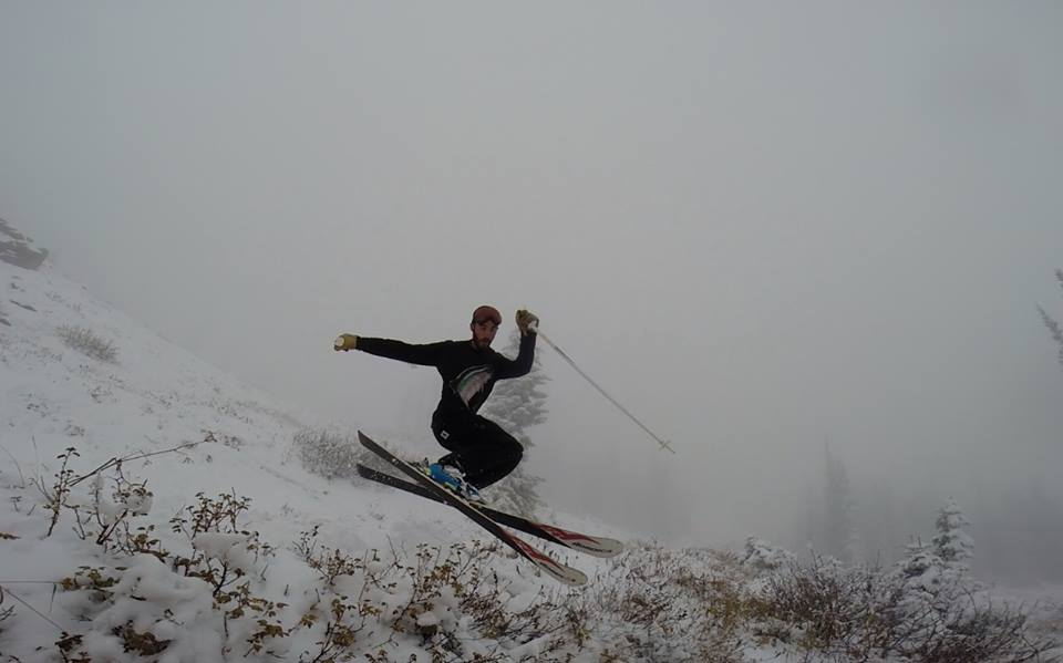 Derek Guimond catching some air over on Buffalo Pass Wednesday afternoon. Photo submitted by Jack Brown.