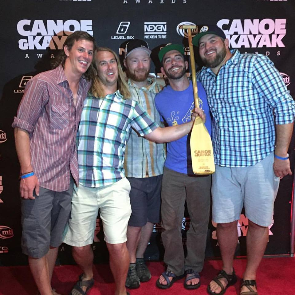 "Canoe & Kayak's 2016 ""Expedition of the Year"" award, presented by Nexen Tire, was awarded to the Rediscover North American team Thursday during the annual Outdoor Retailer Show in Salt Lake City. Pictured, from left, are Luke Kimmes, Jarrad Moore, Adam Trigg, Winchell Delano, John Keaveny and Daniel Flynn. According to Canoe & Kayak's website, the ""Expedition of the Year"" award was given ""to the team that completes the toughest, most committing and historically significant paddling expedition of the year."" After eight months, 244 days, 12 states, four provinces, two territories, 11 rivers and roughly 5,230 miles later, the six men who embarked on the Rediscovering North America Canoe Expedition, completed their excursion that took them up the Mississippi River from the Gulf of Mexico to their destination at the mouth of the Coppermine River in Kugluktuk, Nunavut, Canada. The group plans to soon release a documentary about their expedition at rediscoverna.com."
