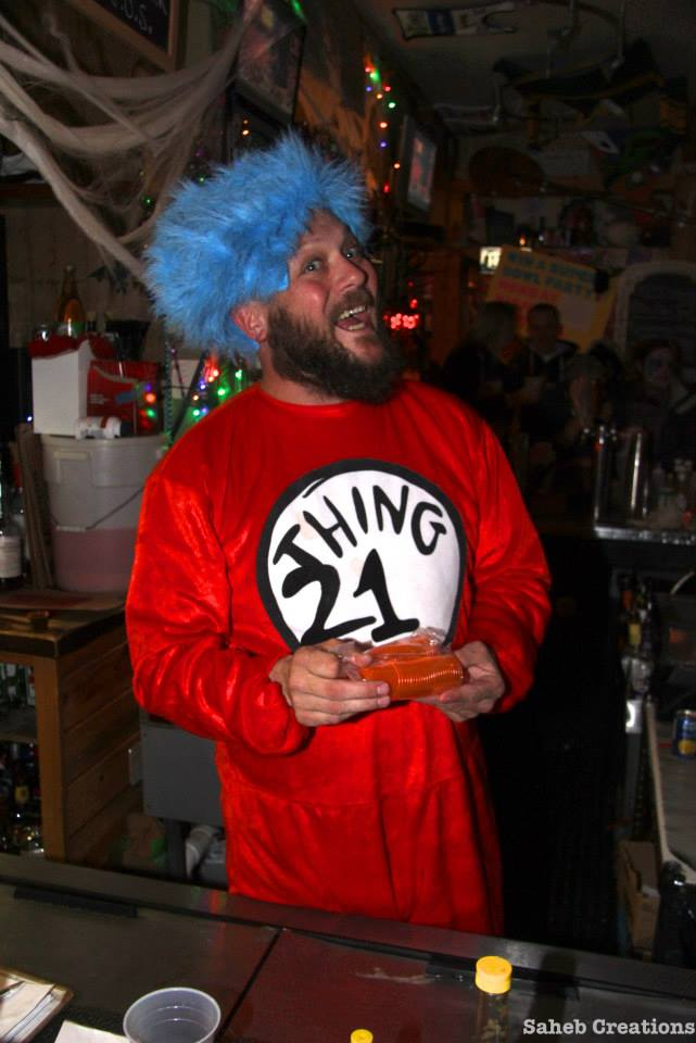 """Last year for Halloween Dick """"Gooch"""" Shine went as """"Thing 21."""""""